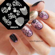 Nail Art Schablone Plates Stamping Nagel Tattoo Stamp Stempel Motive Image QA76