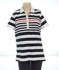 Lauren Ralph Lauren Active Golf Striped Short Sleeve Snap Polo Shirt Women's L
