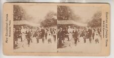 VINTAGE STEREOVIEW - IN CENTRAL PARK - NEW YORK CITY