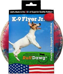 Ruff Dawg K9 Flyer/K9 Flyer Junior Dog Toy (Assorted Colors) Made in the USA!
