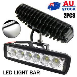 2pcs 18W Car Spot Beam LED Light Work Bar Lamp Driving Fog Offroad SUV Truck