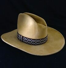 BECO Men's Hat Western Or Cowboy Tan With Band Small 6 3/4 - 6 7/8 Vintage