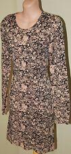 Womens Black and Mushroom Knit Dress - Tigerlily - Size 10