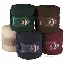 Eskadron HERITAGE Bandagen Fleece 4er, green, blue, brown, pearl