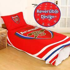 Arsenal FC PULSADOR Funda de almohada y Edredón Individual Juego 100% Oficial