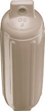 Sand Polyform G2 Tan Boat Fender 4.5'' x 15.5'' Bumper Ribbed USA New Twin Eye