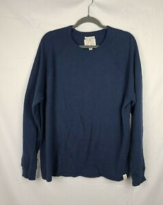 Lucky Brand Lived In Thermal Men's Navy Blue Long Sleeve Shirt sz XXL