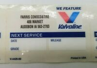 Lot Of 10 2016 Valvoline Oil Change Reminder Static Cling Stickers OEM V-4428-00