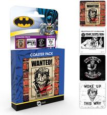 Official DC Comics The Joker Coaster 4pk Set 9x9 Cm