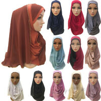 Muslim Women AI Amira Scarf Hijab Headscarf Wrap Cover Islamic Shawl One Piece