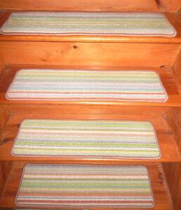 "13 Step 9"" x 30'' +  1 Landing 22'' x 27''  Tufted Wool carpet Jute Stair Treads"