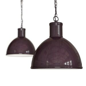 Mulberry Red Burgundy Industrial Hallway Pendant Light - Wardour - Soho Lighting