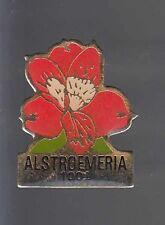 RARE PINS PIN'S .. NATURE FLEUR FLOWER ROSE FLORALIES ALSTROEMERIA LIS INCA ~BN