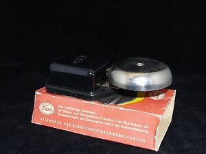 Vintage DUX Electrical Door Bell Black 24V made in GDR in original Box NOS
