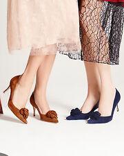 785 new manolo blahnik camelia pumps navy blue suede flower shoes 395 40 41