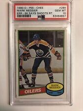 1980 O-Pee-Chee OPC Hockey Mark Messier ROOKIE RC #289 High-End PSA 10 GEM MINT