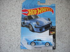 HOT WHEELS DIE CAST 2018 HW NIGHT BURNERZ PORSCHE 934.5 NO 34 BLUE CAR 64
