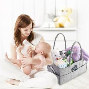 Baby Diaper Caddy Portable Organizer Holder Storage Bins Basket Felt Diaper Bag