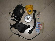 Israeli protective gas mask & blower kit Adult Filter, Atropine, Drinking tube