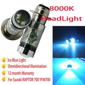 100W 8000K H6 LED Headlight Light For Suzuki Z400 LTZ400 KLF250 YFM350 Rhino 660