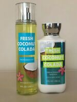 BATH & BODY WORKS FRESH COCONUT COLADA Fragrance Mist Body Lotion Pick 1 NEW