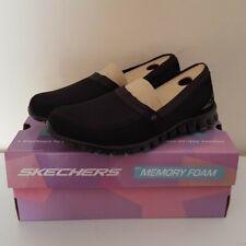 Skechers Womens Ez Flex Take It Easy Memory Foam Slip On Shoes Black Size 7 US