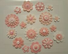 x18 Felt Flower Embellishments.Die cuts