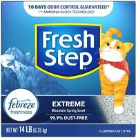Fresh Step Extreme Scented Litter with The Power , Clumping Cat –  14 lb,