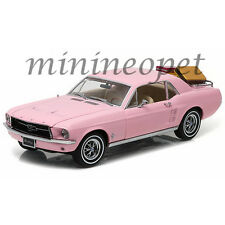 GREENLIGHT 12966 1967 67 FORD MUSTANG COUPE with LUGGAGE 1/18 DIECAST MODEL PINK