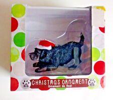 Labrador Retriever Black Lab Ornament NEW Christmas Sandicast Dog Hat Decor