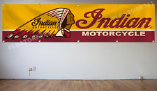 Indian Motorcycles Flag Banner 2x8Ft Garage Roadster Classic Wall Decor Flag