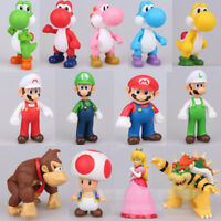 Super Mario Brothers Bros Action Figure Cake Toppers Toys Playset Gift Collect