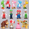 "5""  Kids Super Mario Bros Brothers Princess Luigi PVC Action Figures Xmas Toy"
