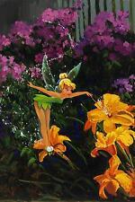 Tinkerbell Grande 30x20 pulgadas lienzo-Disney Peter Pan Aceite De Foto Enmarcada