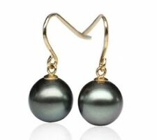 Yellow Gold Natural Pearl Fine Earrings