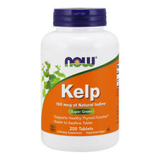 NOW FOODS KELP Natural Iodine 150mcg 200 Vtabs - fonte di iodio