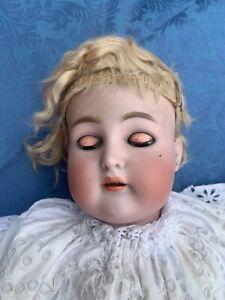 Alte Simon & Halbig Porzellankopf Puppe - ca. 76 cm lang - Mit Beschädigungen -