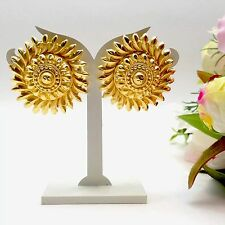 Indian Jewellery Asian Bridal Ethnic Wear 22ct Gold Plated Tops Studs Earrings