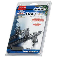 New 2017 Excalibur Crossbow 150 Grain Boltcutter 3 Blade Broadheads 3 Pack 6670