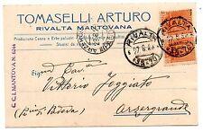 TOMASELLI RIVALTA MANTOVANA MANTOVA CANNE ERBE PALUSTRI BACHI DA SETA 1929