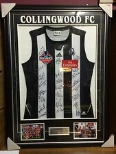 COLLINGWOOD 2010 PREMIERS FRAMED JUMPER HAND SIGNED BY 22 PREMIERSHIP PLAYERS