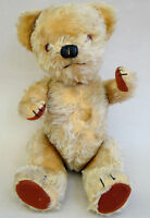 Chad Valley UK Teddy Bear 1950s Golden Mohair Plush 17in Label Jointed Sqeaker
