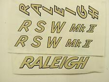 """Raleigh """"RSW Mk II""""  bike decal/sticker set of 4"""