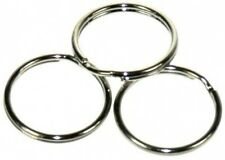 100 x 16mm NICKEL STEEL SPLIT RINGS,KEYRINGS,CONNECTOR,BAG CHARMS,FINDINGS