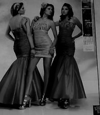 NEW BLACK/GOLD Ball 2 PIECES Formal Prom Dresses KISS KISS/ PC MARY'S SIZE 6