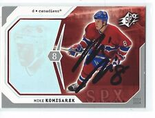 Mike Komisarek Signed 2003/04 SPX Card #52