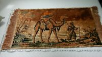 Vintage Arabic Middle Eastern Sheik & Camel  TAPESTRY Rug Wall Hanging