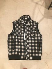 sean john black and white plaid mens vest size xxl