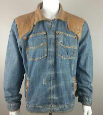 Vintage OMAVI c70s Men's Distressed Destroyed Acid Wash Denim Jean Jacket Sz 1X