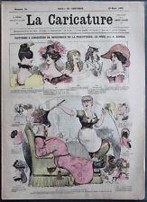 Albert ROBIDA Journal LA CARICATURE N°12 1880 Couv Couleur Bezucheux Fricottière